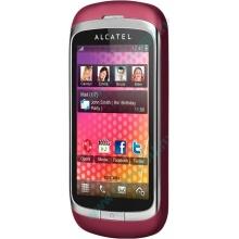 Красно-розовый телефон Alcatel One Touch 818 (Елец)